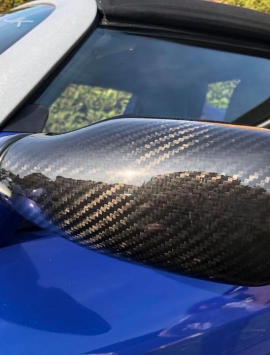 Carbon fibre wing mirror covers