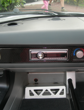 VX220 / Opel Speedster dashboard plates with radio cut out